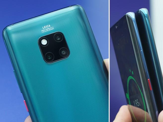Huawei Mate 20 Pro ufficiale: fotocamera «al quadrato» e ricarica gli altri telefoni