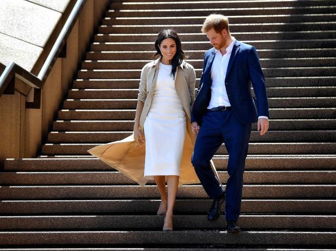 Meghan Markle incinta, le foto del viaggio in Australia