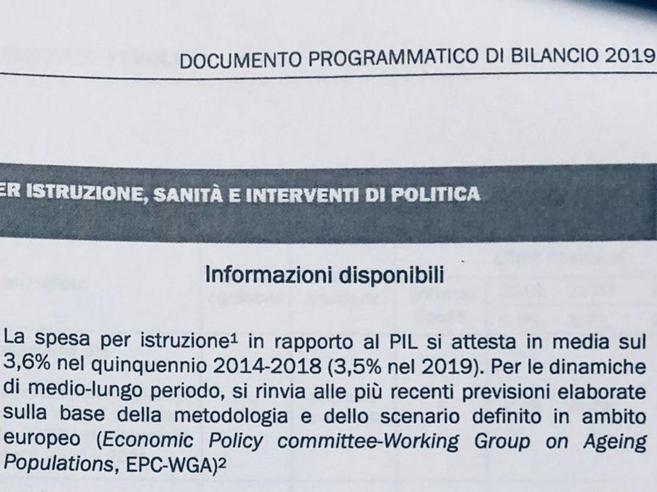 Tagli all'istruzione, l'Italia passa dal 3,6%  al 3,5% del Pil