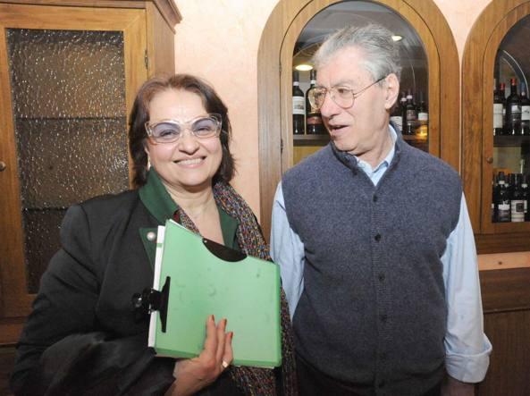 Daniela Cantamessa con Umberto Bossi