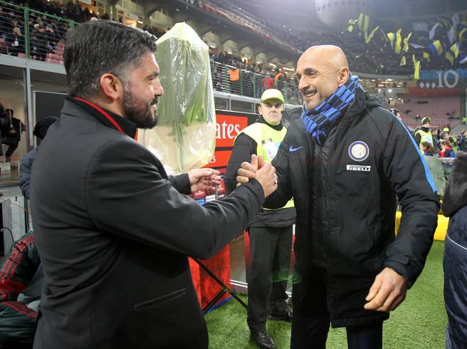 Spalletti cambia, Gattuso conservaLe strade diverse di Inter e Milan