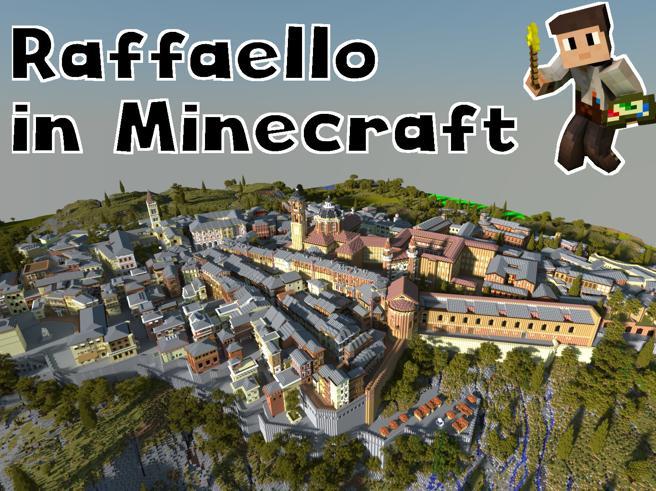 La storia di Raffaello raccontata con Minecraft, il progetto del Ducale di Urbino