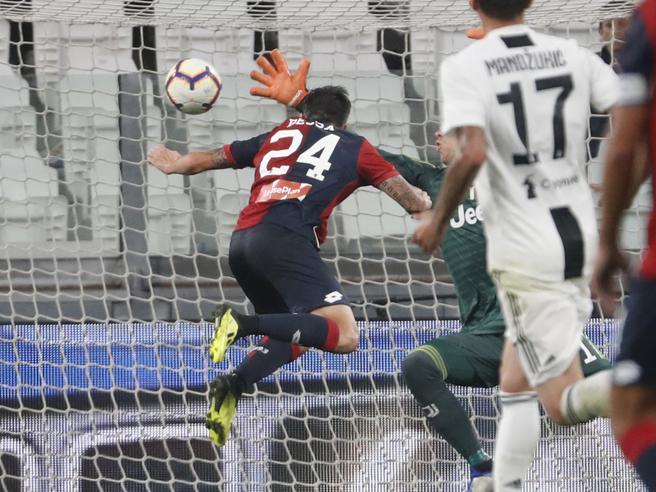 La Juve si ferma col Genoa dopo otto vittorie: Bessa agguant