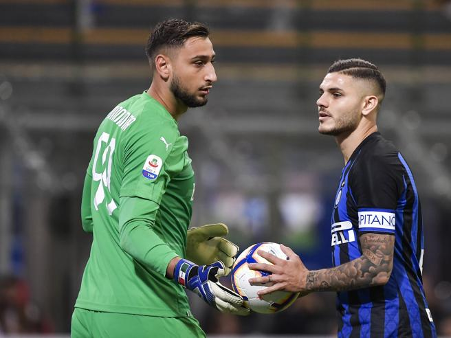 Inter-Milan 1-0:  Icardi decide, Donnarumma tremendo, Higuain leone in gabbia Foto Errore di Donnarumma: video
