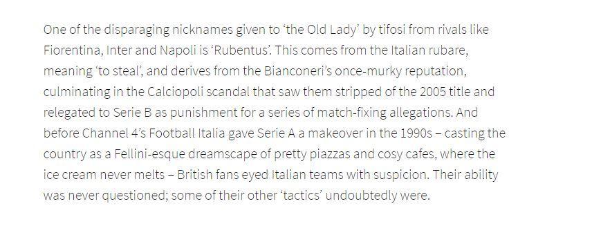 Uno stralcio dell'articolo di Joe Ganley sul sito Ufficiale del Manchester United