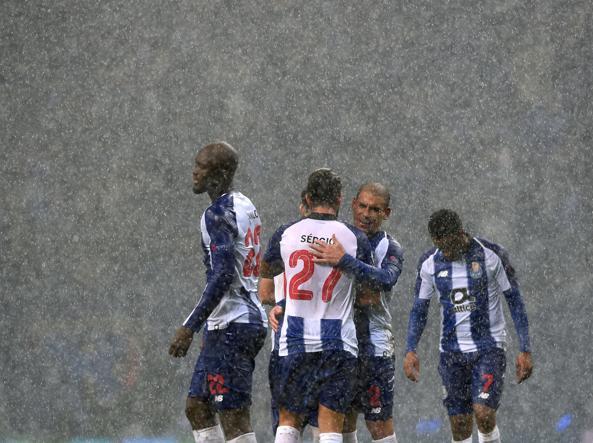 Giocatori del Porto (Afp)