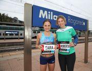Sara Dossena (a sinistra) e l'assessore allo sport  Roberta Guaineri, testimonial della maratona