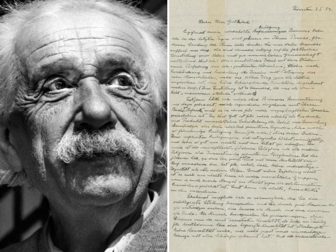 La «lettera su Dio» di Einstein battuta  per 2,8 milioni di dollari