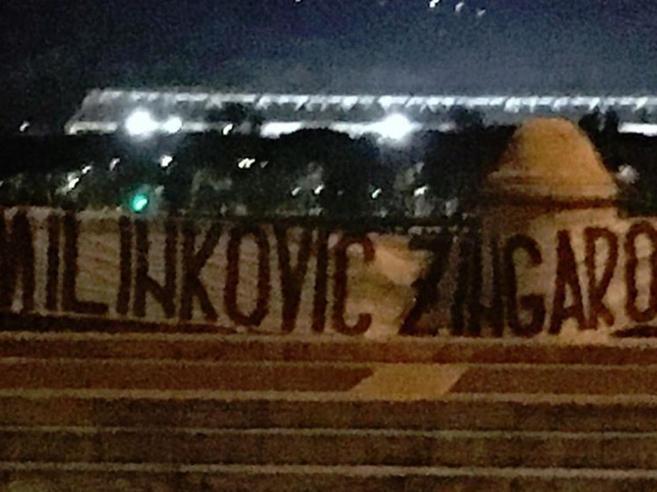 Lazio nel caos, striscione contro Milinkovic-Savic: «Zingaro»