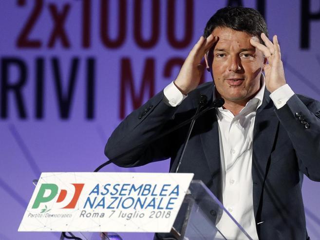 Pd, Renzi: «Non mi candido alle primarie, con il partito dov