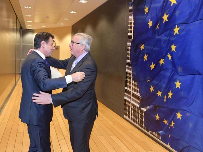 Conte dopo l'incontro con Juncker:  deficit  2019 scende da