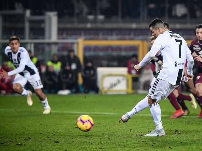 Torino Juventus 0 1, rigore di Ronaldo (ingenuità di Zaza)