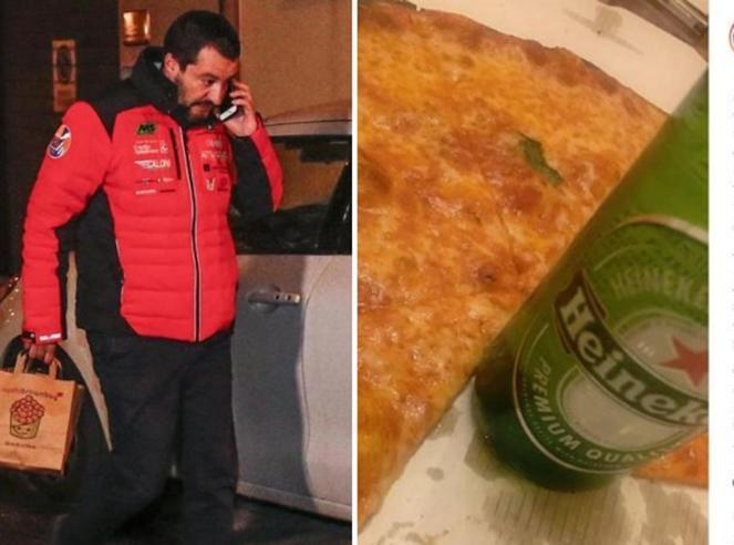 """Sushi alle 9, pizza e birra a notte fonda: la """"doppia"""" cena  di Salvini nella sera del vertice di maggioranza"""