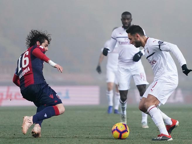 Il Milan fermato a Bologna I rossoneri scivolano  a cinque
