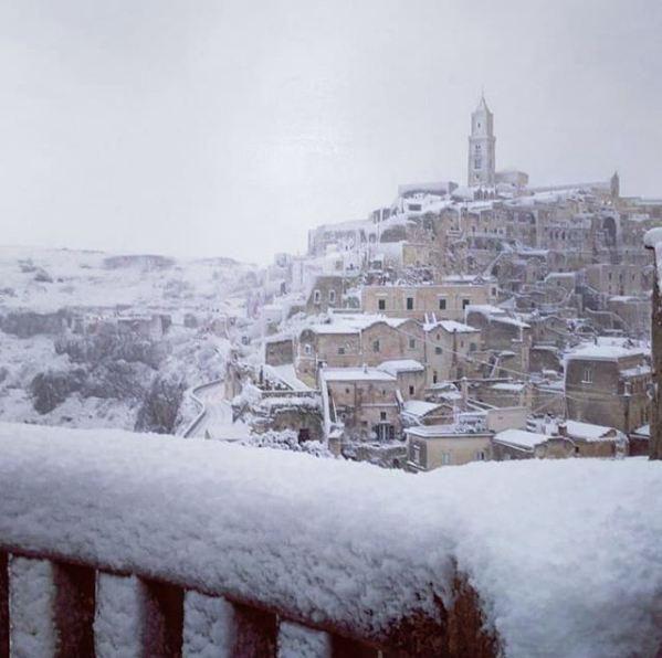 Neve A Matera Le Foto Più Belle Dei Sassi Imbiancati