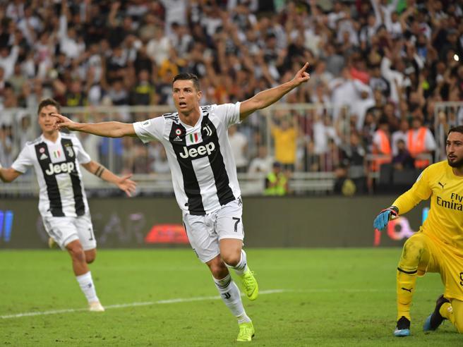 Supercoppa Juventus Milan 1 0: Ronaldo decide, traversa Cutr