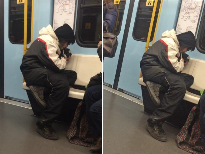 L'eroina fumata in metrò tra la folla a Milano - Sul treno da Rogoredo: video