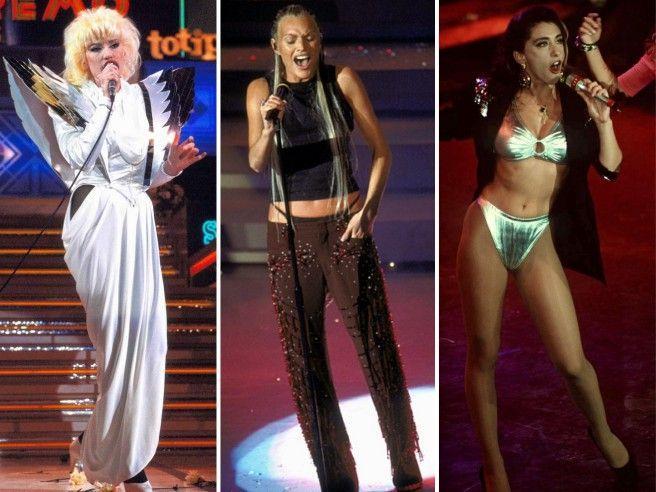 Festival di Sanremo: i peggiori look di sempre. Come usciti da un Luna Park fuori controllo