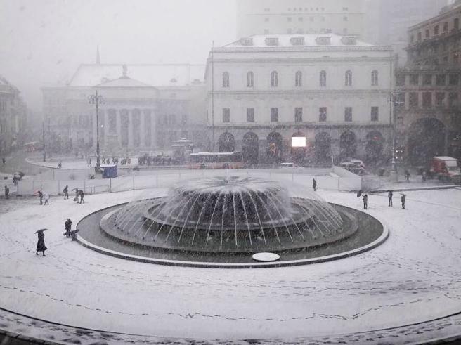 Neve da Trieste a Napoli, Italia imbiancata