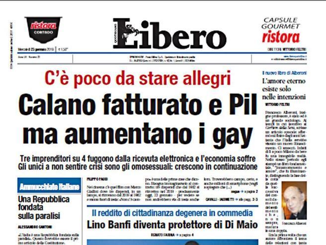 Crimi: «Titolo Libero omofobo, via al blocco dei fondi»