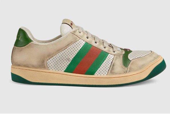 Le scarpe di Gucci consumate e sporche da 690 euro  l ironia sul web ... d03127e1eda
