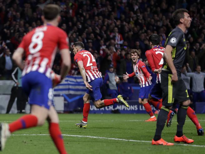 Atletico Madrid Juve 2 0, Gimenez a segno al 78' e Godin all