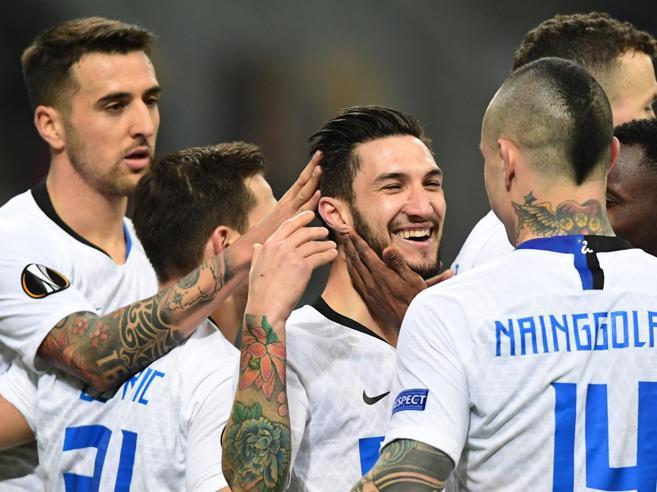 Vecino, Ranocchia, Perisic, Politano: l'Inter travolge il Rapid Vienna 4-0 (e non sente nostalgia di Icardi)