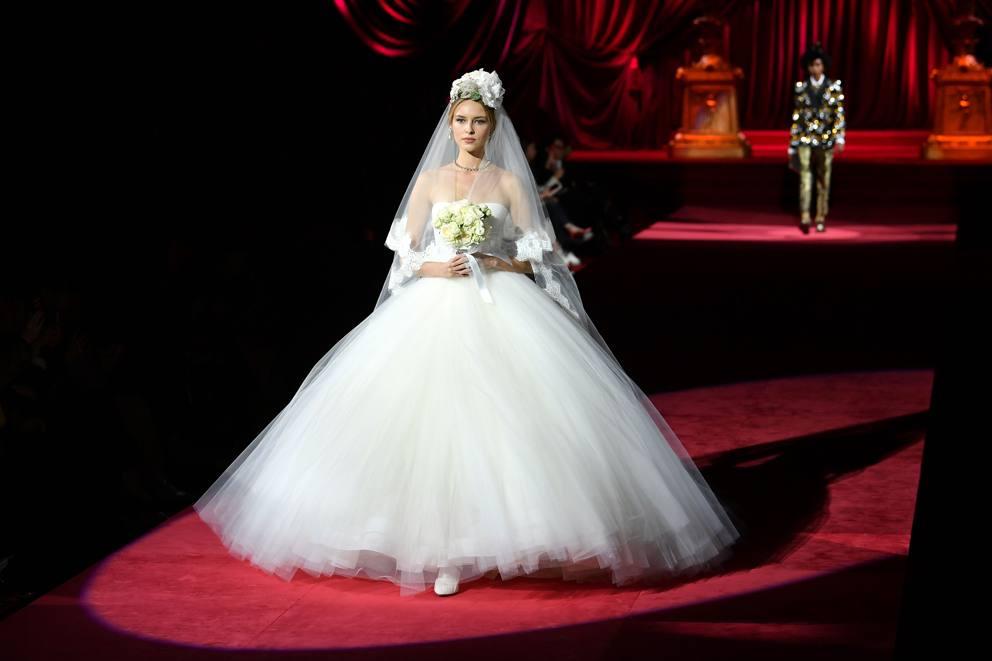 Vestiti Da Sposa Dolce E Gabbana.Dolce Gabbana Le Foto Della Sfilata In Passerella Gli Abiti Da