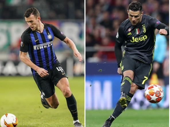Ivan Perisic e Cristiano Ronaldo (Epa, Getty Images)