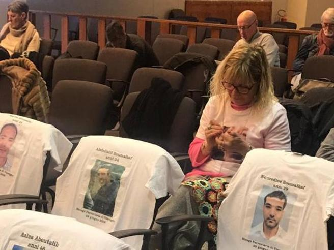 Ever-present mother crochets at trial over daughter's death
