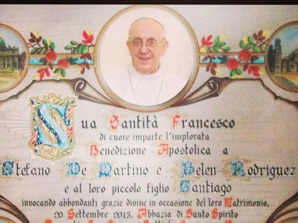 Anniversario Di Matrimonio Benedizione.A Soli 13 Euro La Benedizione Del Papa Su Pergamena E Inviata A