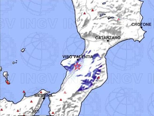 Vibo Valentia, scossa di terremoto di magnitudo 3.3