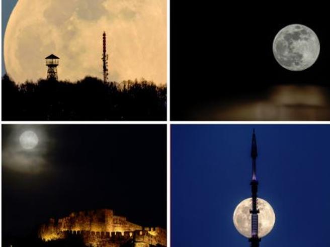 La Superluna di primavera: le foto più belle dall'Italia e dal mondo