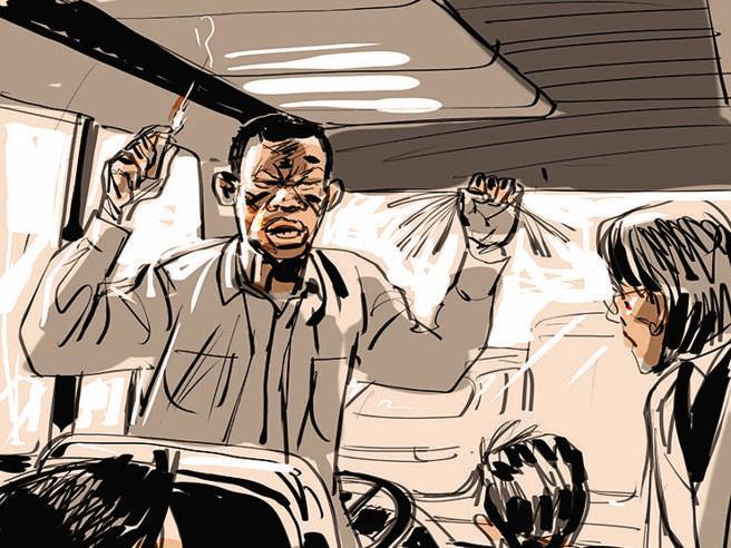 Minacce |  telefonate |  fiamme | la dinamica di  una mattinata di paura sul bus sequestrato