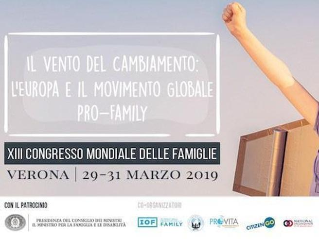Forum della famiglia di Verona: via patrocinio del consiglio dei ministri