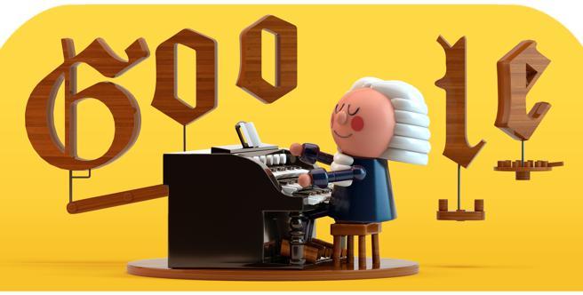 Il doodle di Google del 21 marzo festeggia Bach con l'intelligenza artificiale