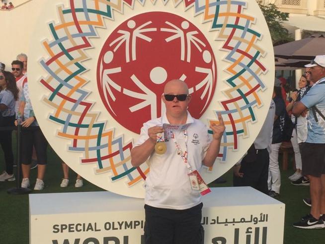 Marchino, campione mondiale di golf agli Special Olympics di Abu Dhabi