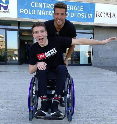 Manuel Bortuzzo e la foto con Gabriele Detti: «Ti aspetto in acqua»