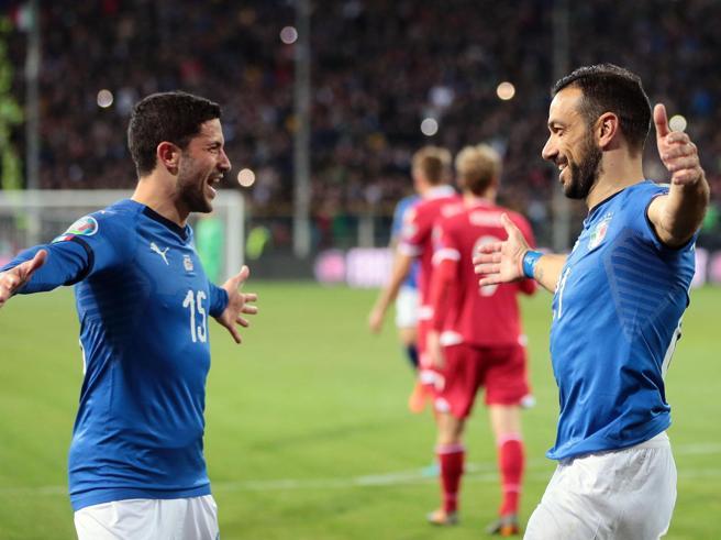 Italia-Liechtenstein 6-0: apre Sensi, chiude Pavoletti (e Quagliarella segna due rigori)