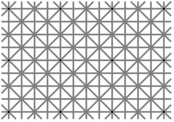 I puntini sono 12 ma se ne vede uno solo alla volta. Sapete perché? Fate la prova