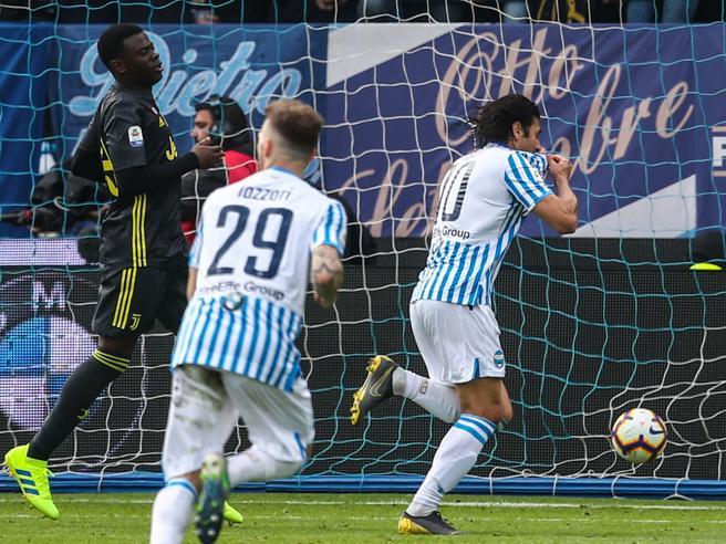 In campo Roma-Udinese:  1-0Juventus, festa scudetto rimandata: contro la Spal i bianconeri  perdono  2-1