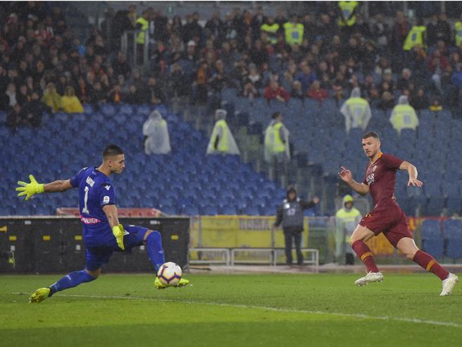 Roma-Udinese 1-0, Dzeko rilancia Ranieri verso la Champions