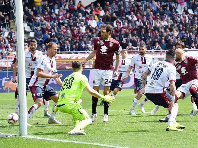 Torino-Cagliari 1-1: Zaza, prima segna e poi viene espulso. Pari di Pavoletti. Cairo: «Arbitraggio allucinante»