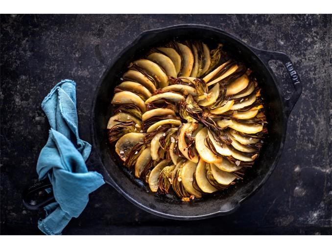 Ruoto di patate e carciofi
