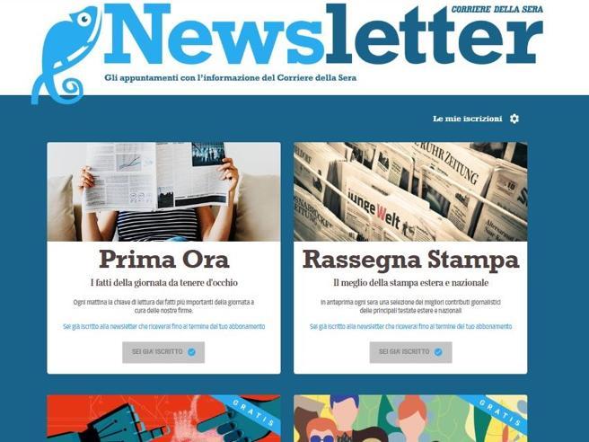 Newsletter del Corriere, le notizie per mail. Eccocome iscriversi