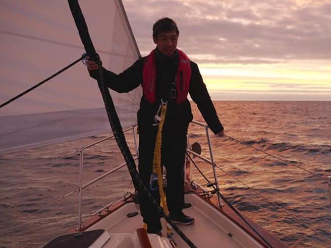 Iwamoto, il primo velista ciecoad attraversare l'Oceano Pacifico