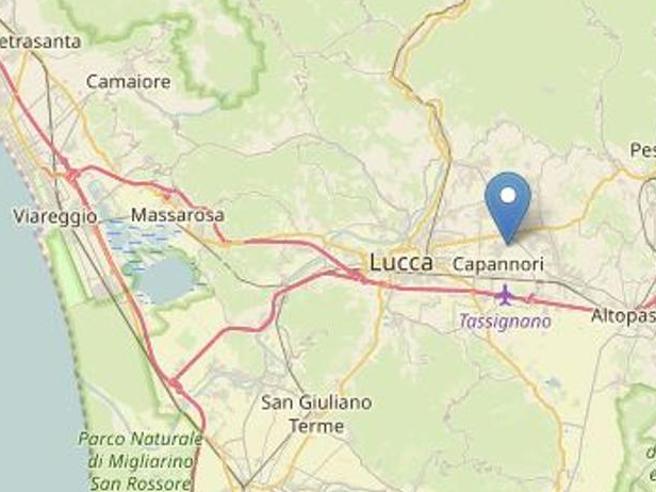 Scossa di magnitudo 2 accompagnata da forte boato: paura a Lucca