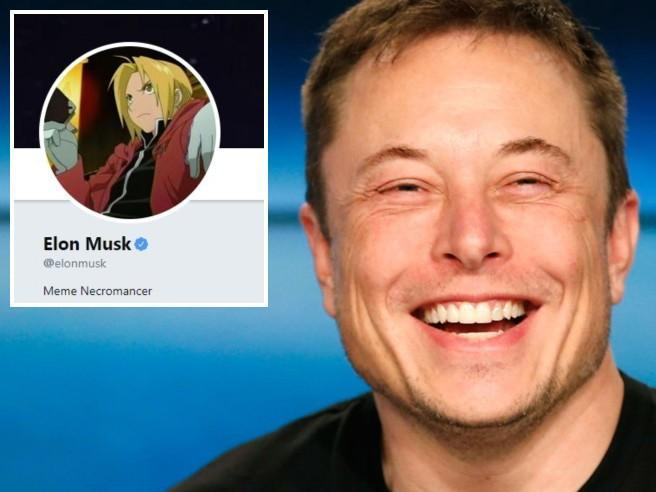 "Elon Musk: «Internet è folle». E su Twitter diventa ""Fullmetal Alchemist"""