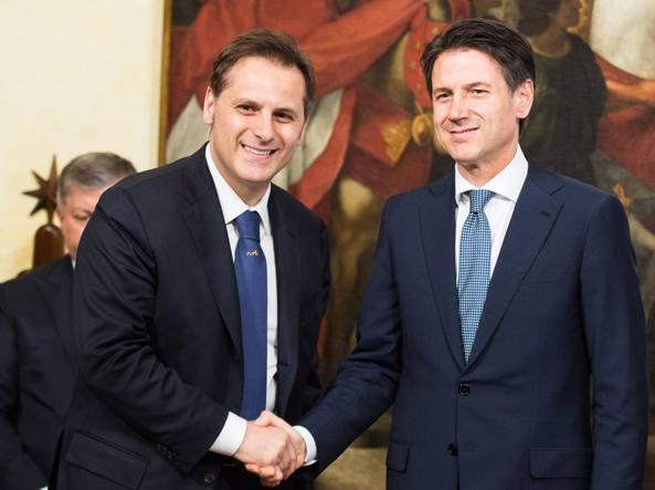 Armando Siri e Giuseppe Conte (Imagoeconomica)