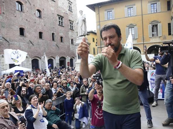 Matteo Salvini a Prato
